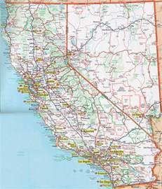 california road map with cities nevada california map