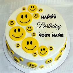 smiley kuchen happy birthday smiley cake with name