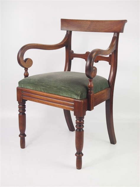 antique mahogany desk chairs antique mahogany open armchair desk chair