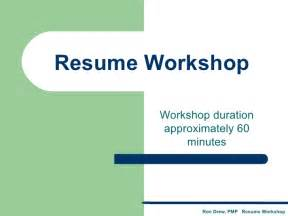 rdrew resume workshop