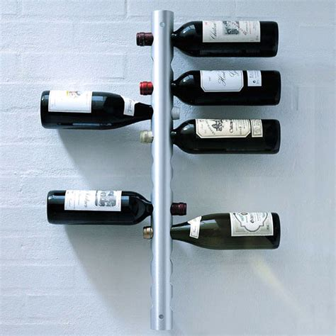 Stainless Wine Rack by Opentip Aspire Wall Mounted Stainless Steel 12 Bottle