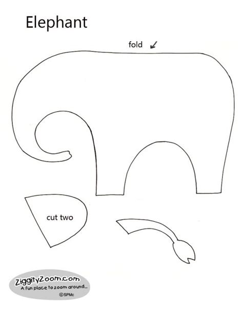 elephant cut out template elephant cut out templates search results calendar 2015