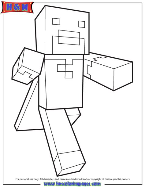 minecraft alex coloring page free coloring pages of minecraft alex