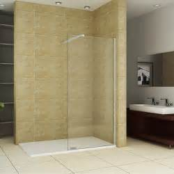 walk in shower enclosure curved 6mm glass cubicle screen side panel tray ebay
