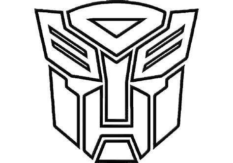 transformers logo coloring page transformers logo stencil ajilbabcom portal clipart best