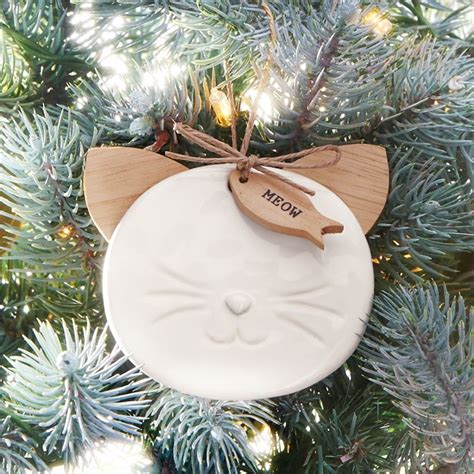 Cat Ceramic Ornament ceramic cat ornament shop mud pie now mud pie