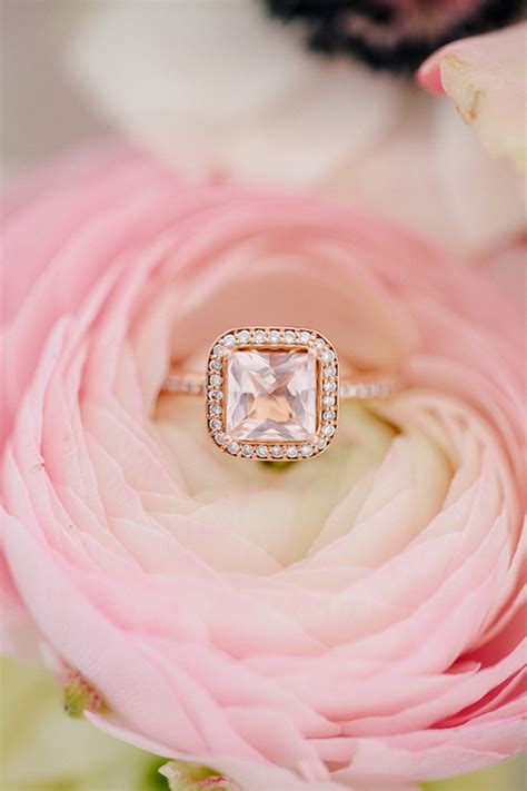 15 Stunning Rose Gold Wedding Engagement Rings that Melt