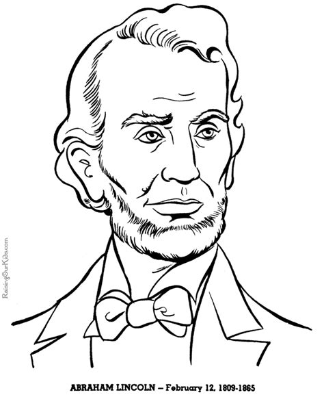 abraham lincoln coloring pages free and printable