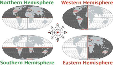 map of the hemispheres in the world worldatlas com