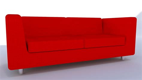 modern red sofa modern red leather sofa 3d turbosquid 1207112
