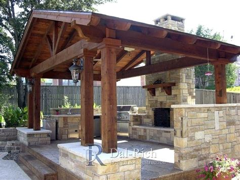 Outdoor Kitchen Pavilion Designs Covered Outdoor Patio Home Design Ideas And Pictures