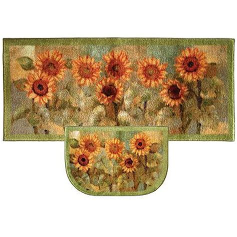 Sunflower Kitchen Rugs Kitchen Rug Home And Kitchens On Pinterest