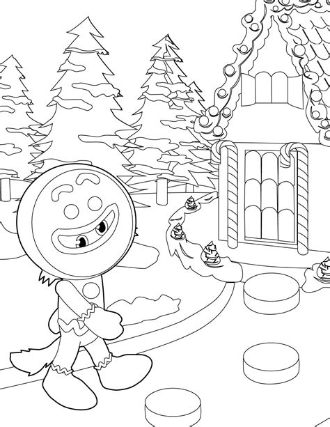 winter wonderland christmas coloring gingerbread man coloring page handipoints