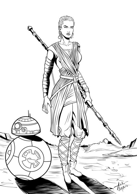 coloring pictures of rey from star wars rey star wars coloring pages coloring pages
