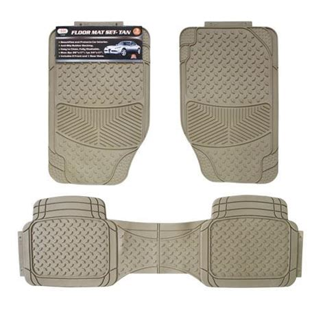 wholesale 3pc car floor mats tan glw