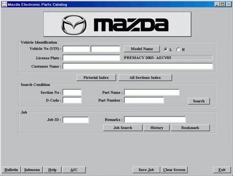 mazda part mazda epc electronic parts catalog rx7club mazda