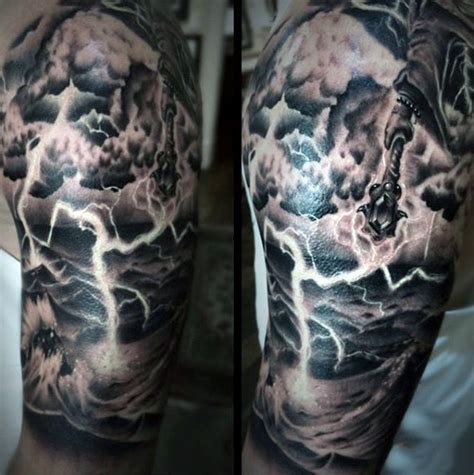 lighting tattoo 60 lightning designs for high voltage ideas