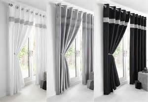 Double Duvet Size In Cm New Diamante Faux Silk Lined Curtains Black Silver Or