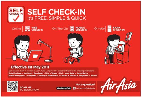 airasia early check in airasia travel advisory self check in arrive early at