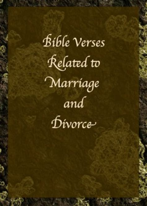 Marriage Bible Verses Divorce on divorce and marriage bible quotes quotesgram