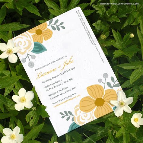 Wedding Invitations Seeded Paper by Plantable Wedding Invitations Seeded Paper Invitations