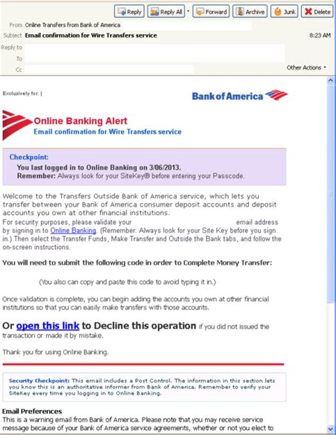 bank transfer details threattrack security malicious spam alerts bank of