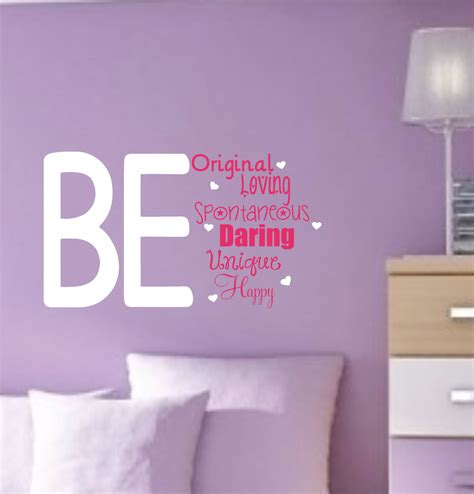 wall stickers teenage bedrooms girl vinyl wall decals teen saying bedroom decor by allonthewall 22 00 new home