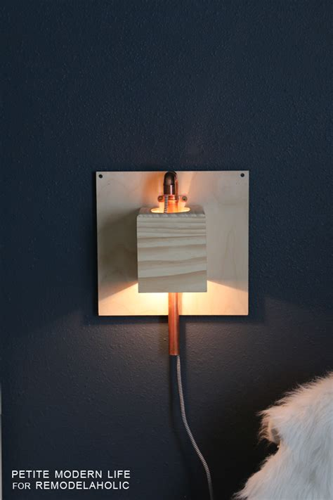 Diy Wall Sconce Remodelaholic Renter Friendly Diy Wall Sconce Tutorial