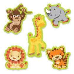 funfari safari jungle shaped baby shower paper cut outs 24 ct