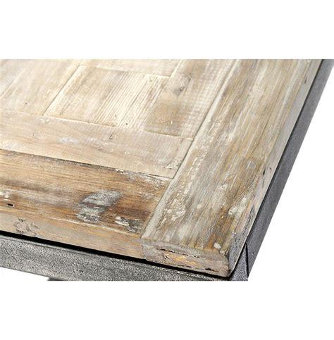 Abner Industrial Modern Rustic Bleached Oak Grey Dining Table