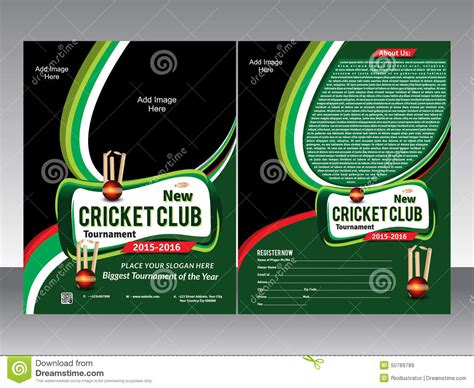 Cricket Tournament Flyer Template Free