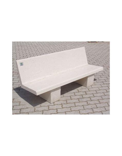 panchina cemento panchina con spalliera in cemento colore bianco pietra