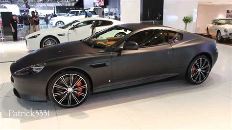 aston martin blacked matte black aston martin db9 dubai motor show 2013 youtube