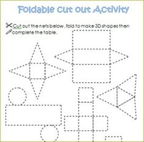 How To Make A 3d Cone With Paper - 3d shapes printables and shape on