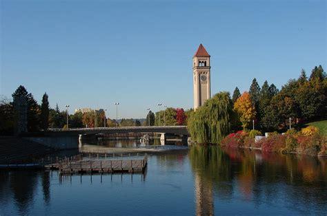 colville wa city center clock tower photo picture pin spokane wa clocktower in riverfront park downtown