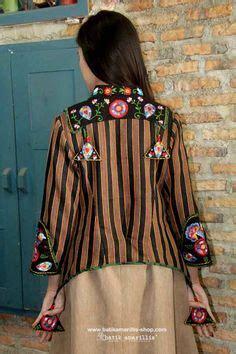 Blouse Batik Wanita Katun Sogan Lurik batik kombinasi lurik klambi batik