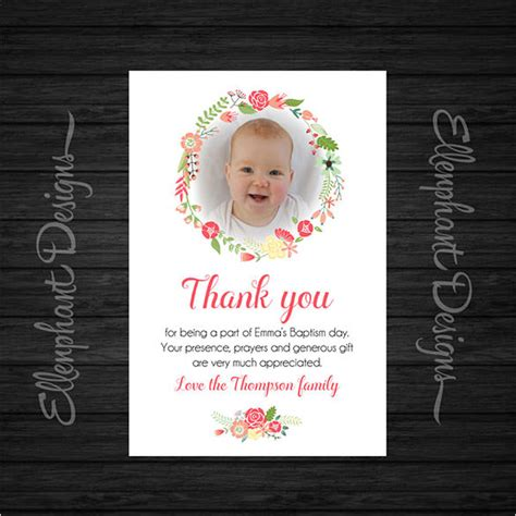 baptism photo card template 22 christening thank you cards free premium templates