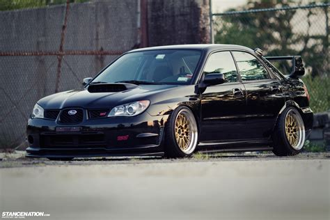 low loud vic s slammed subaru sti stance nation