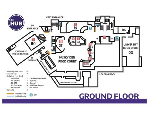 Hub Ground Floor Map  Hub