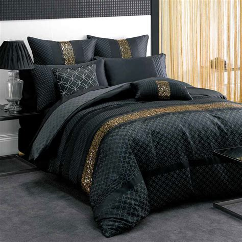 black bedding set black and gold bedding sets for adding luxurious bedroom decors homesfeed