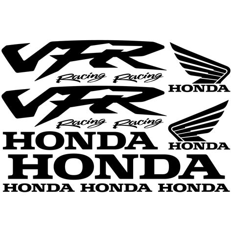 Racing Aufkleber Set by Wandtattoos Folies Honda Vfr Racing Aufkleber Set