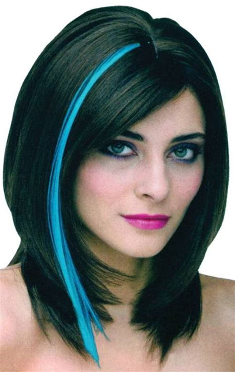 photos of weaves and streaking in hair black hair with neon blue highlights di candia fashion
