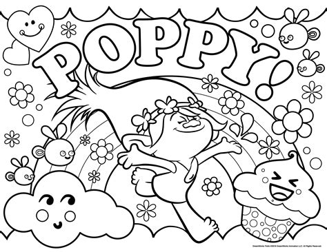 free coloring pages trolls trolls movie coloring pages best coloring pages for kids