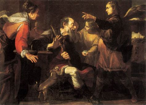 God Heals The Blind Man Tobias Healing The Blindness Of His Father By Assereto