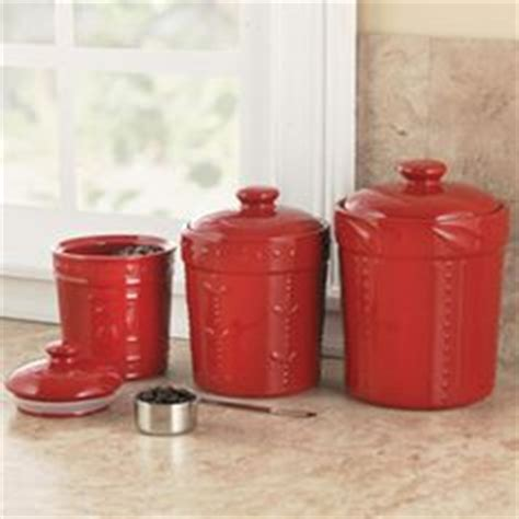 signature housewares 3 piece sorrento ruby red ceramic 1000 images about canisters on pinterest red canisters