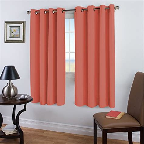 solid coral curtains blackout room darkening solid curtains coral nursery girls
