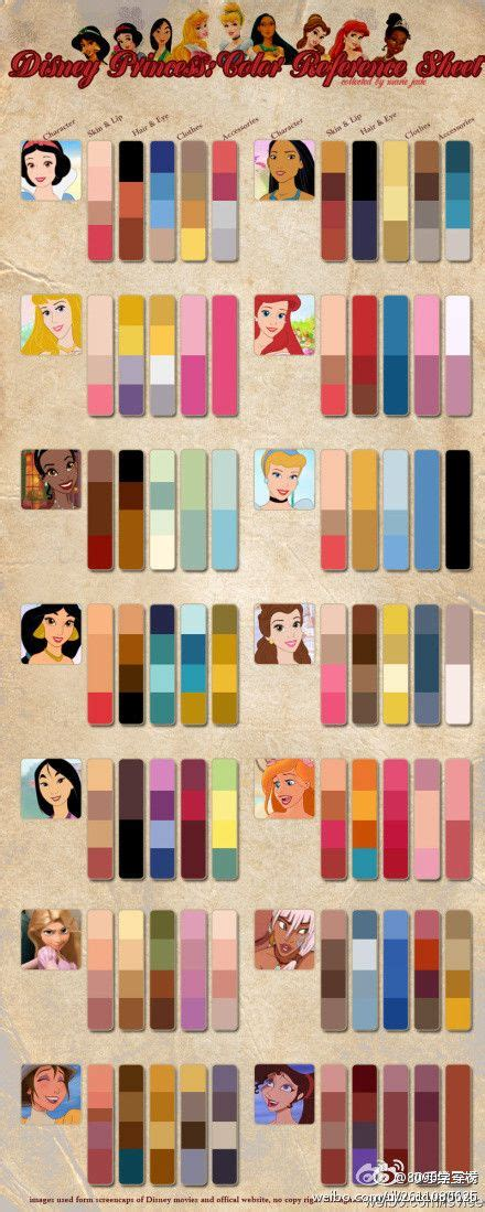 disney princess colors disney princess color palettes pixie dust