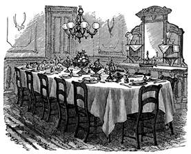 Dining Room Table Clipart Black And White Table Setting Free Clip Design Shop
