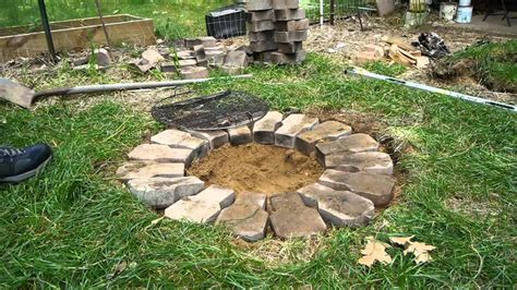 how to make a firepit building a cheap firepit