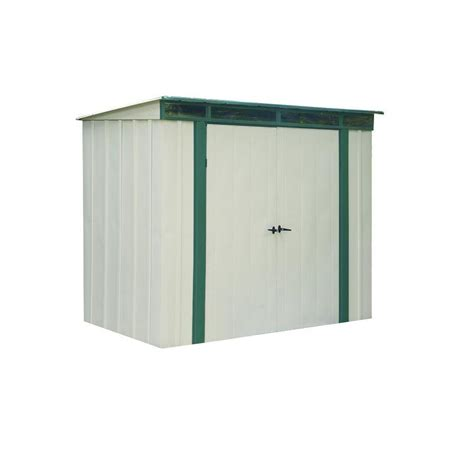4 X 6 Storage Shed by Arrow Eurolite Lean 6 Ft X 4 Ft Steel Storage Shed